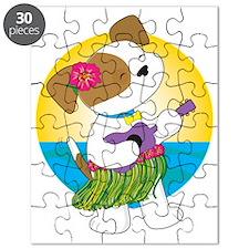 Cute Puppy Hawaii Puzzle