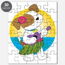 Cute Puppy Hawaii Puzzle
