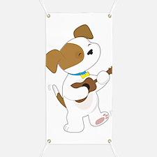 Cute Puppy Ukulele Banner