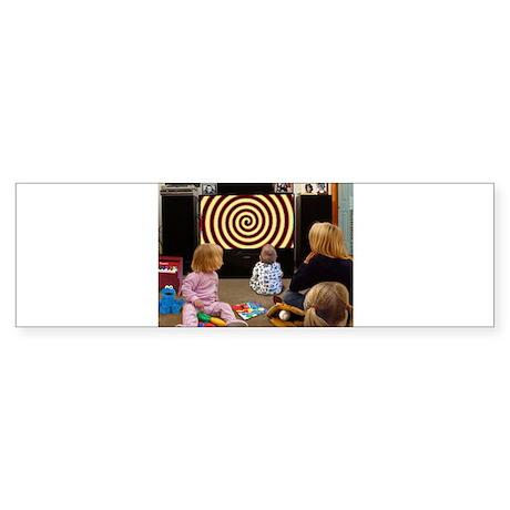 Hypnotic TV Bumper Sticker
