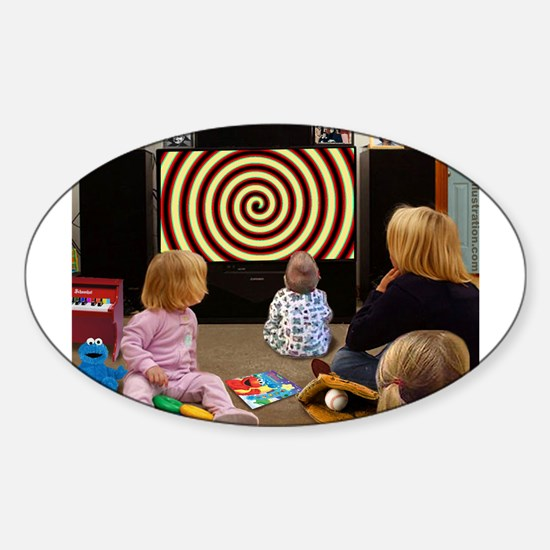 Hypnotic TV Oval Decal