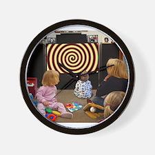 Hypnotic TV Wall Clock