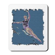 Man in leaping fifth colorized wlevieffe Mousepad