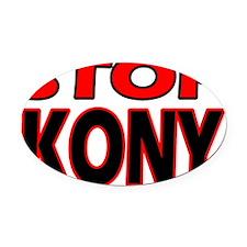 stop_kony2 Oval Car Magnet