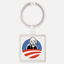 ObamaScream Square Keychain