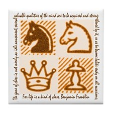 Chess Game Tile Coaster