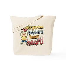 Kindergarten Teacher Heart Tote Bag