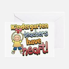 Kindergarten Teacher Heart Greeting Cards (Package
