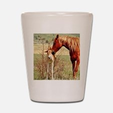 Mare  Foal 5x5 Shot Glass