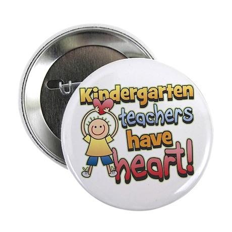 Kindergarten Teacher Heart Button
