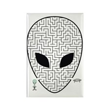 alien emblem Rectangle Magnet