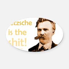 Nietzsche Shit dark apparel Oval Car Magnet