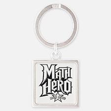 MATH HERO FINAL2 Square Keychain