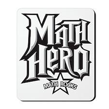 MATH HERO FINAL2 Mousepad