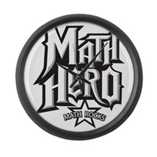 MATH HERO FINAL2 Large Wall Clock
