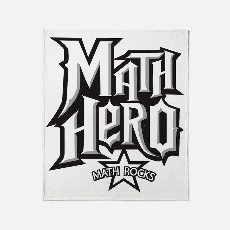 MATH HERO FINAL2 Throw Blanket