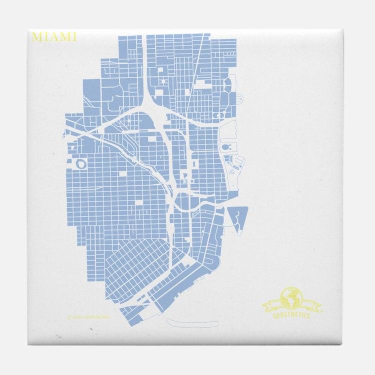 MIA-FL_BL-WH-LM Tile Coaster