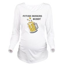 beer buddy Long Sleeve Maternity T-Shirt