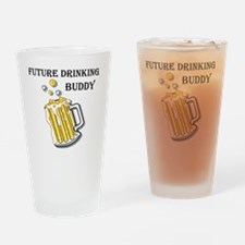 beer buddy Drinking Glass