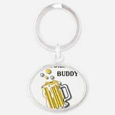 beer buddy Oval Keychain