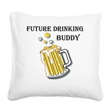 beer buddy Square Canvas Pillow