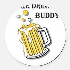 beer buddy Round Car Magnet