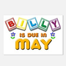 Billy is Due in May Postcards (Package of 8)