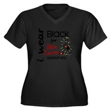 D AWARENESS Women's Plus Size Dark V-Neck T-Shirt
