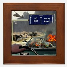 NO Exit from Iraq Framed Tile