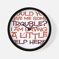 trouble copy Wall Clock