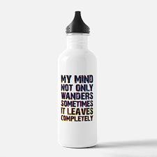 mindwanders copy Water Bottle