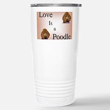 Love is Poodle Travel Mug