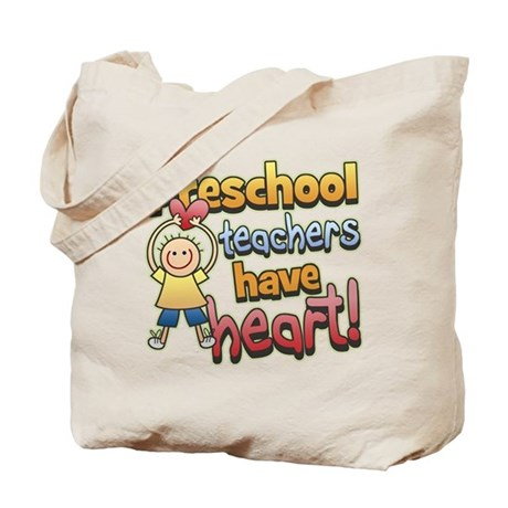 Preschool Teacher Heart Tote Bag