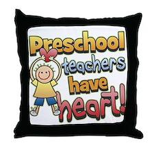 Preschool Teacher Heart Throw Pillow
