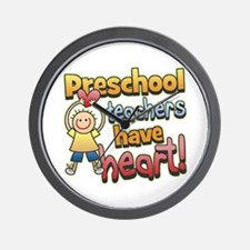 Preschool Teacher Heart Wall Clock