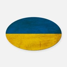 Ukrainetex3tex3-paint Oval Car Magnet
