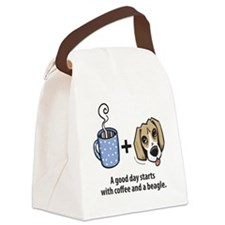beagle_coffeeforlight Canvas Lunch Bag