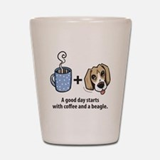 beagle_coffeeforlight Shot Glass