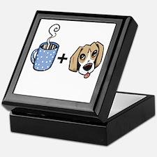 beagle_coffee_fordark Keepsake Box