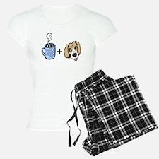 beagle_coffee_fordark Pajamas