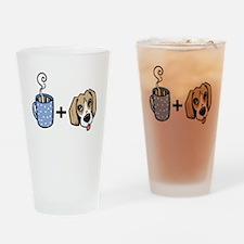 beagle_coffee_fordark Drinking Glass