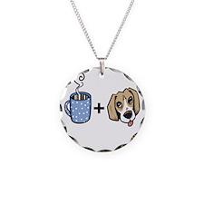 beagle_coffee_fordark Necklace