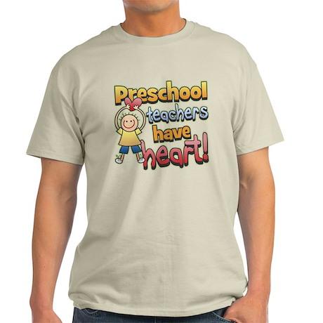 Preschool Teacher Heart Light T-Shirt