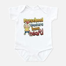 Preschool Teacher Heart Infant Bodysuit