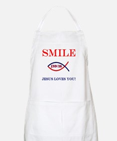 Smile Jesus Loves You BBQ Apron
