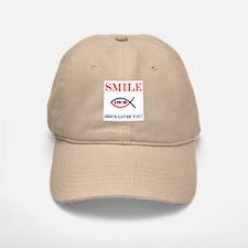 Smile Jesus Loves You Baseball Baseball Cap