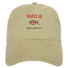 Smile Jesus Loves You Baseball Cap
