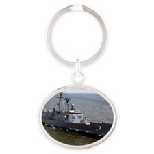 ohperry framed panel print Oval Keychain