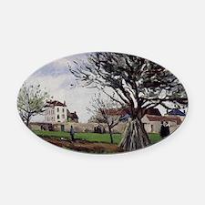 Pissarro: Apple Trees at Pontoise, Oval Car Magnet