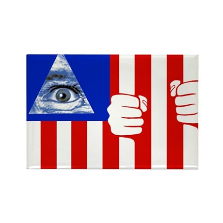 American Flag Rectangle Magnet (100 pack)
